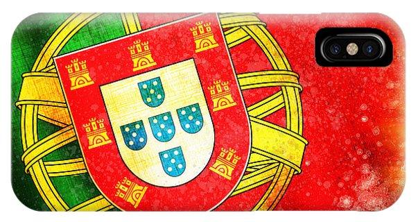 Damage iPhone Case - Portugal Flag  by Setsiri Silapasuwanchai