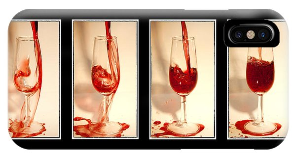Wine Pouring iPhone Case - Pouring Red Wine by Svetlana Sewell