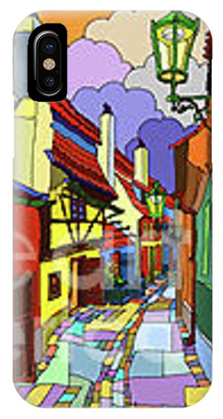 iPhone Case - Prague Golden Line by Yuriy Shevchuk