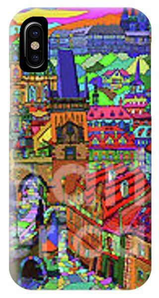 iPhone Case - Prague Panorama With Charles Bridge by Yuriy Shevchuk