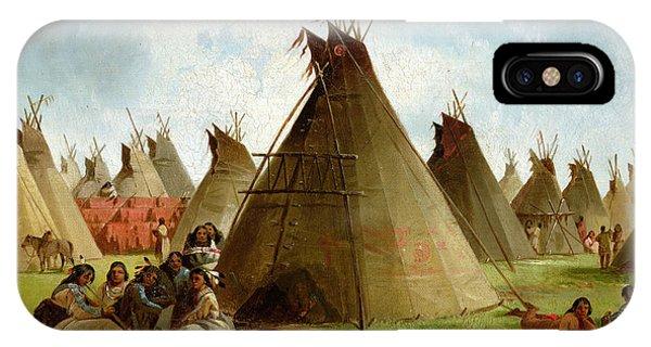 Wild iPhone Case - Prairie Indian Encampment by John Mix Stanley