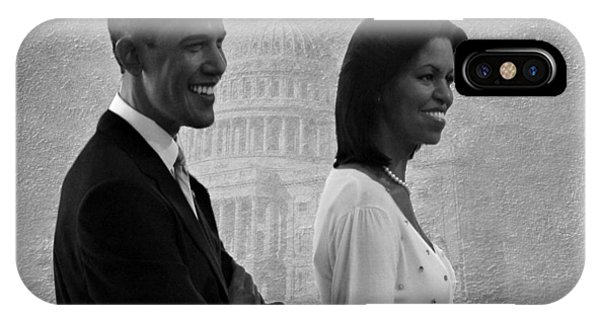 President Obama And First Lady Bw IPhone Case