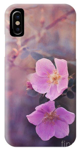 Pink Flower iPhone Case - Prickly Rose by Priska Wettstein