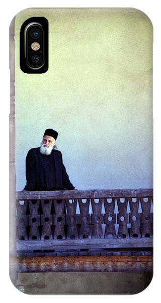 Priest At Bistrita Monastery IPhone Case