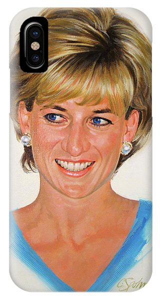 IPhone Case featuring the painting Princess Diana by Cliff Spohn