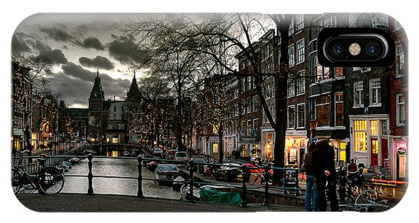 Prinsengracht And Spiegelgracht. Amsterdam IPhone Case