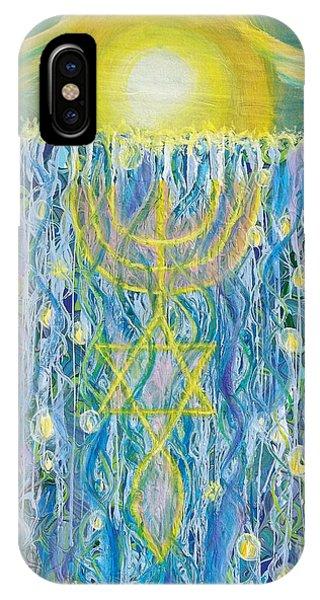 Prophetic Message Sketch Painting 26 Elohim Elohim Latter Rain IPhone Case
