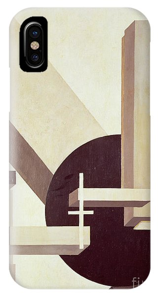 Gray iPhone Case - Proun 10 by El Lissitzky