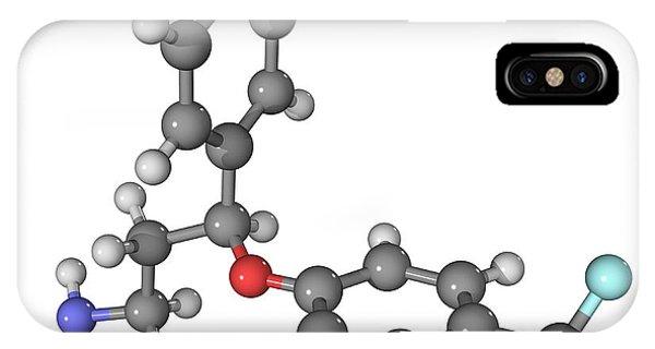 Prozac Antidepressant Molecule Phone Case by Laguna Design