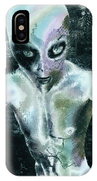 Psychotropic Alien Phone Case by Maynard Ellis