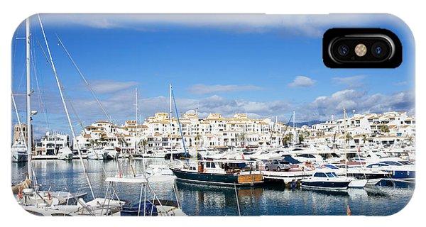 Powerboat iPhone Case - Puerto Banus Marina by Artur Bogacki