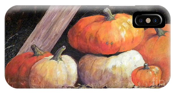 Pumpkins In Barn IPhone Case