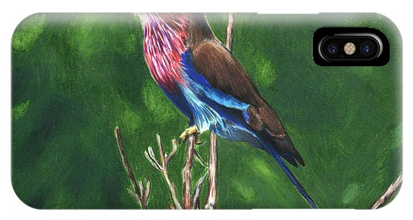Purple And Blue Bird IPhone Case