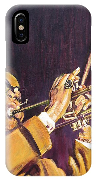 Purple And Gold Dizzy Gillespie IPhone Case