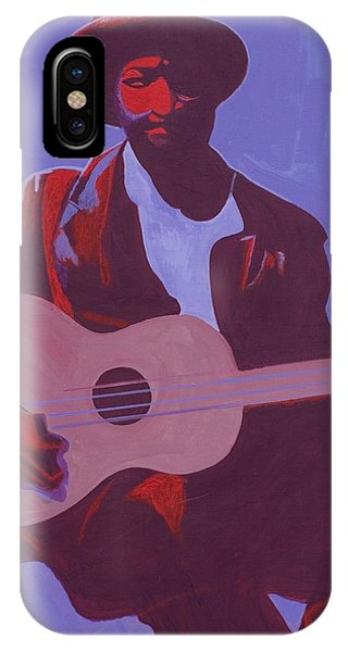 Strum iPhone Case - Purple Blues by Kaaria Mucherera