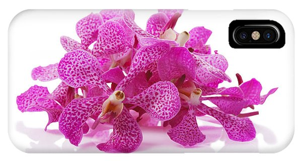 Purple Orchid Pile IPhone Case