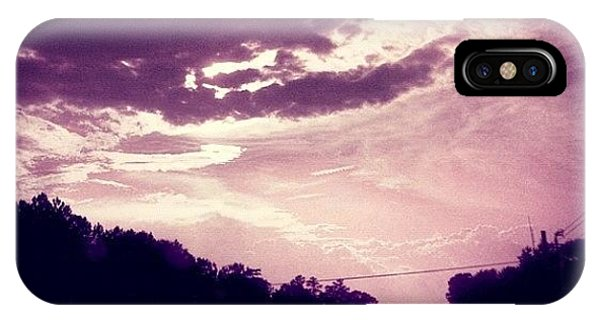 Cloud iPhone Case - #purple #sky #clouds #driving by Katie Williams