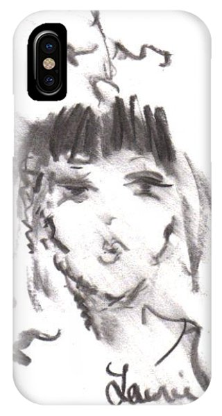 IPhone Case featuring the drawing Queen Of Kisses by Laurie Lundquist