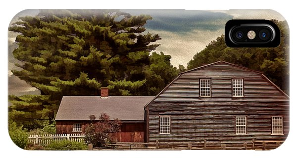 New England Barn iPhone Case - Quest In Time by Lourry Legarde