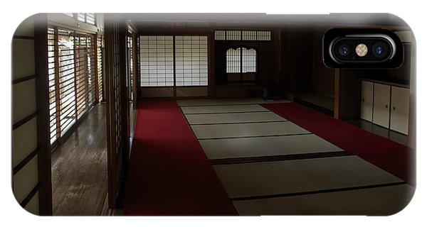 Kobe iPhone Case - Quietude Of Zen Meditation Room - Kyoto Japan by Daniel Hagerman