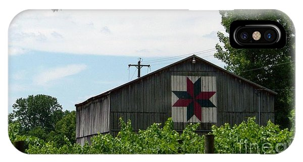 Quilted Barn And Vineyard IPhone Case