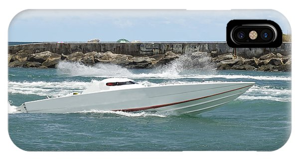 Powerboat iPhone Case - Race Boat by Rudy Umans