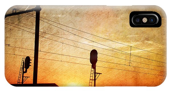 Railroad Sunset IPhone Case