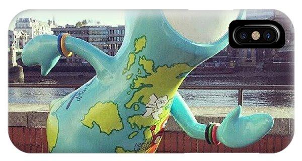 London Bridge iPhone Case - Rainbow Wenlock by Lynda Larbi