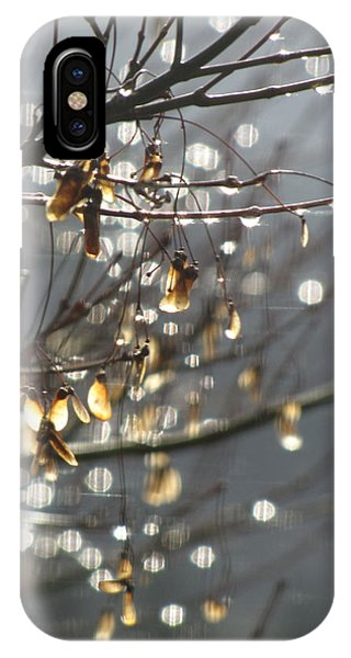 Raindrops And Leaves IPhone Case