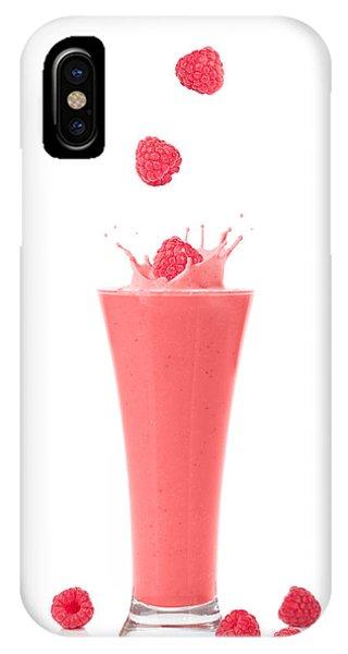 Smoothie iPhone Case - Raspberry And Strawberry Smoothie by Amanda Elwell