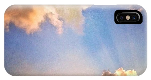 Cloud iPhone Case - Rays Of Light Like Wings Of Angels by Amber Flowers