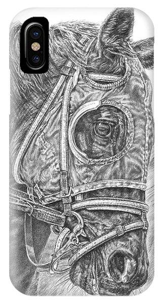 Ready Set Go - Race Horse Portrait Print IPhone Case