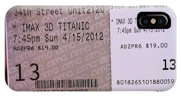 Movie iPhone Case - Ready To See Titanic 3d Imax by Luis Alberto