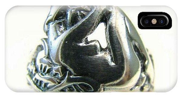 Reclining #nude #sterling #ring - Part IPhone Case