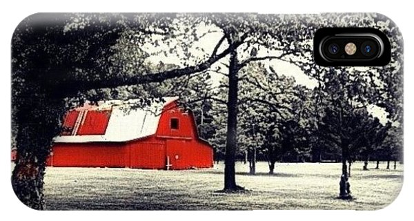 Edit iPhone Case - Red Barn by Mari Posa