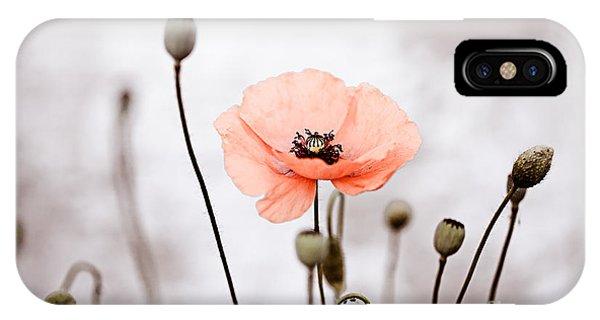 Red Corn Poppy Flowers 01 IPhone Case