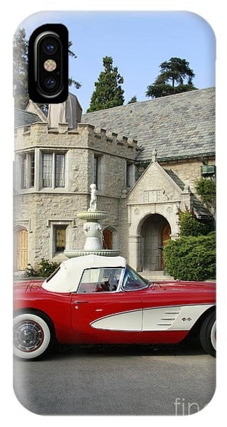 Red Corvette Outside The Playboy Mansion IPhone Case