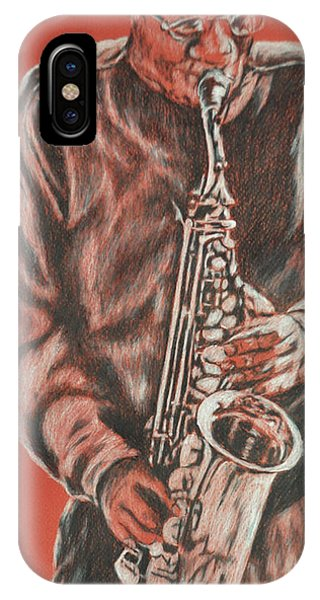 Red Hot Sax IPhone Case