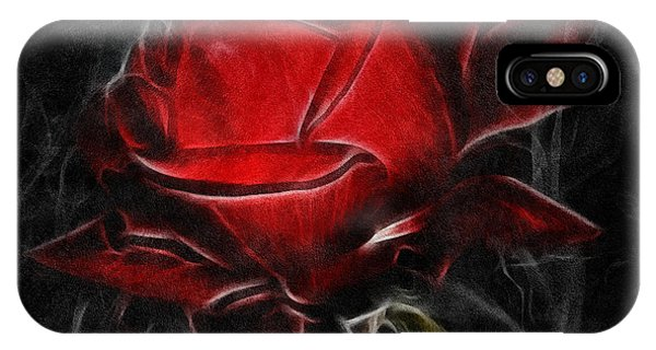 Texture iPhone Case - Red And Hot  by Isabella Howard