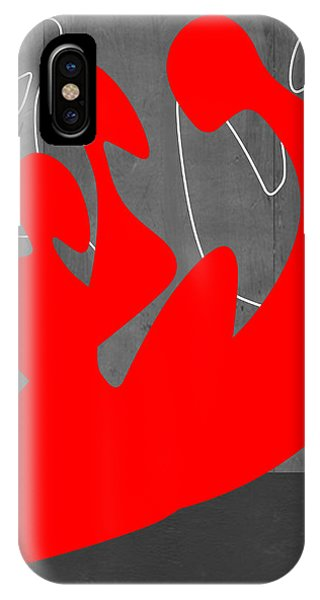 Abstract Figurative iPhone Case - Red People by Naxart Studio