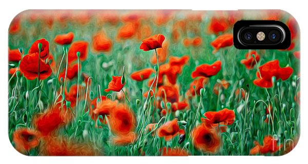 Petals iPhone Case - Red Poppy Flowers 04 by Nailia Schwarz