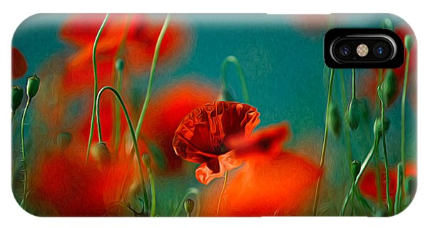 Petals iPhone Case - Red Poppy Flowers 05 by Nailia Schwarz