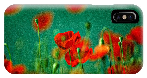 Petals iPhone Case - Red Poppy Flowers 07 by Nailia Schwarz