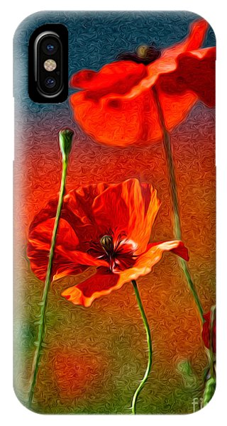 Petals iPhone Case - Red Poppy Flowers 08 by Nailia Schwarz