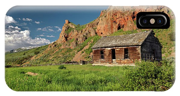 Antiquated iPhone Case - Red Rock Cabin by Leland D Howard