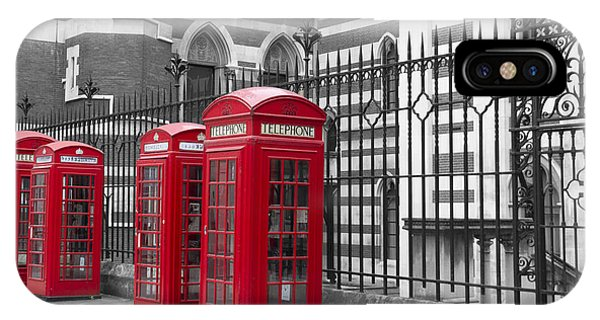 Red Telephone Boxes IPhone Case