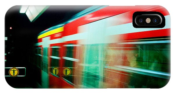 London iPhone Case - Red Train Blurred by Matthias Hauser