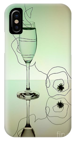 Dinner iPhone Case - Reflection 02 by Nailia Schwarz