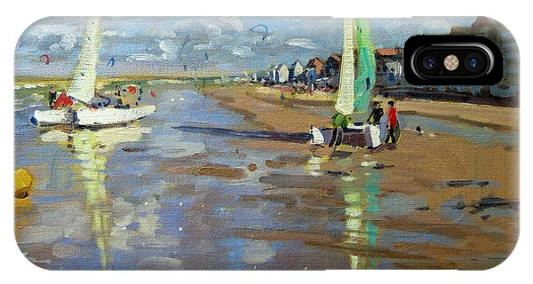 Catamaran iPhone Case - Reflection by Andrew Macara