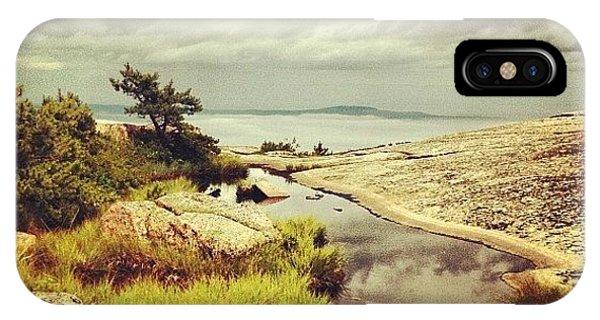 Beautiful Landscape iPhone Case - Reflections On Champlain Mt. #maine by Luke Kingma